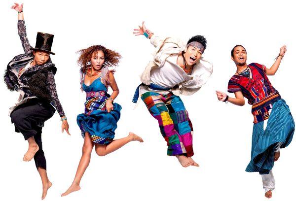 DANCE EARTH PARTY! Na foto, promovendo o single: INOCHI NO Rhythm